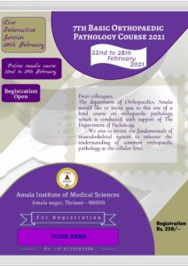 7th Basic Orthopaedic Pathology CME- Thrissur @ online- Moodle