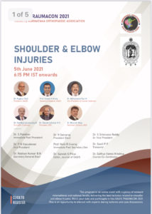 OASIS TRAUMACON 2021- Shoulder and Elbow Injuries @ VIRTUAL MEET